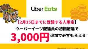 Uber Eats ウーバーイーツ 紹介料 キャッシュバック 友達紹介